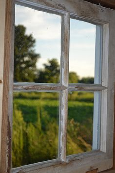 one of the new barn windows.