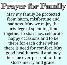Prayer for Family