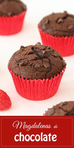 Banana Chocolate Chip Muffins, Chocolate Cupcakes, Cop Cake, Kitchen Recipes, Cooking Recipes, Just Eat It, Pan Dulce, Fondant Cupcakes, Sweets