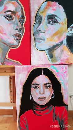 #SerenaSingh #Art #Artist #Basel #Switzerland #Neoncolors #Portrait #Painting #Modernart #colorful #Womanportrait #Contemporaryart #expressionism #Kunst #Frauen