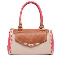 I love the Jessica Simpson Betsey Color Block Satchel from LittleBlackBag