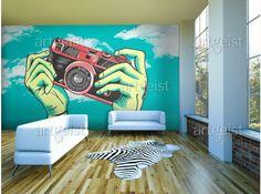 Fototapeten Pop Art verleihen jedem Wohnraum jede Menge Farbe und einen Hauch von Originalität #fototapete #fototapeten #wallpapers #popart #farben