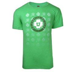 Men's Block U and Shamrock T-shirt #stpatricksday #utahutes #utahredzone