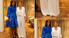 La primera dama lució un estilismo canchero durante el encuentro que tuvo con su par de los Estados Unidos en el Centro Metropolitano de Diseño