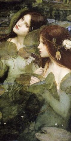 'Hylas and the Nymphs' (Detail) by John William Waterhouse ~ VoyageVisuelle by VoyageVisuelle