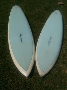 My personal Robert August single fin surfboards. Circa 1977 and 78.
