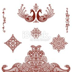 Mehndi (henna) Ornaments Royalty Free Stock Vector Art Illustration