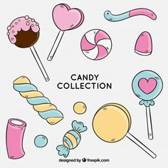 Colorful candies collection in hand drawn style , Cute Food Drawings, Kawaii Drawings, Doodle Drawings, Doodle Art, Doodle Frames, Kawaii Doodles, Cute Doodles, Candy Drawing, Fete Halloween