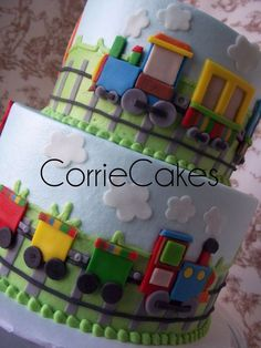 Corriecakes is amazing-train birthday cake