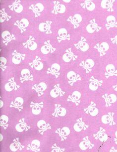 Flannel Lavender Pink Skull & Cross Bones by julies5150world