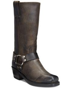 cf09cbea59e Frye Women s Harness 12R Boots - Gray 5.5M Mid Calf Boots
