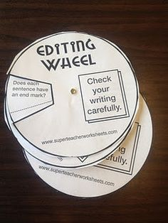 A great way of getting students to proof read / edit their own work.