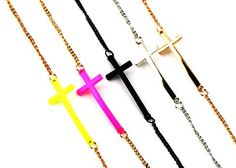 Simple Metal Cross Chain Bracelet     $7.99