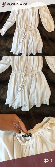 Brandy Melville GABRIELLA romper Like new brandy Melville Gabriella romper in white. Only worn a few times. So comfy Brandy Melville Pants Jumpsuits & Rompers