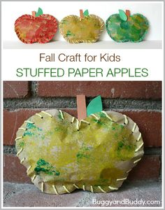Fall Crafts for Kids: Stuffed Paper Apples- This simple autumn art project for children combines painting and lacing- great fine motor practice and fun for preschoolers and kindergarten! Autumn Crafts, Fall Crafts For Kids, Autumn Art, Toddler Crafts, Art For Kids, Winter Art, Kids Fun, Holiday Crafts, Apple Activities