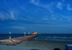 I was given the opportunity to participate in the #bluechallenge by my friend @klnowe. This is my 4/5 photo. You were supposed to nominate somebody so I am nominating everybody who follows me. Only if you want to. This is my first night time photo of Galveston Texas. http://ift.tt/1Z3bNMq #fishing #61stpier #pier #pierlife #galveston #TX #Texas #dock #gulfofmexico #fish