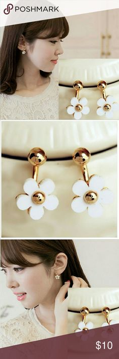 Cute flower earrings $10 on each earring, choose which color,  bundle deal: pick any additional jewelry on my list for just $5 more, let me know so I can set up a bundle of $15! Jewelry Earrings