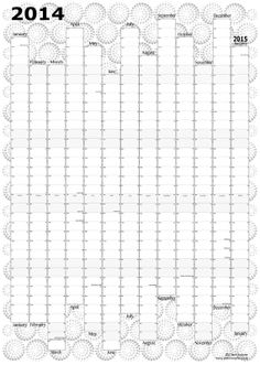 Wall Planner 2014 Modern original design by ClareSwayne on Etsy