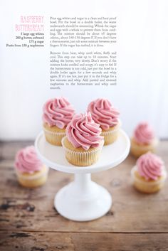 Blonde cupcakes with buttercream