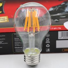 Most Popular 6W 8W 2200K Soft White Dimmable LED Vintage Filament Bulb A19 Edison Style 6W to Replace 60W Incandescent Bulb