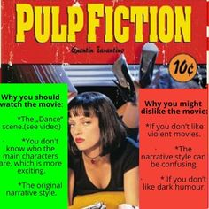 Quick review of Pulp Fiction by Quentin Tarantino #pulpfiction #umathurman #cultmovies #quentintarantino #samuelljackson #brucewillis #moviereview Uma Thurman, Bruce Willis, Cult Movies, See Videos, Quentin Tarantino, Grafik Design, Pulp Fiction, Vintage Movies, The Past