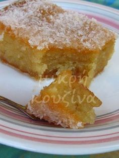 Syruped coconut cake - Γλυκό ταψιού Ινδοκάρυδο Coconut Recipes, Sweets Recipes, Greek Recipes, Candy Recipes, Greek Sweets, Greek Desserts, Sweets Cake, Cupcake Cakes, Desserts With Biscuits