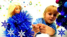 Новогодняя елка с #БАРБИ и подружкой Машей. Скоро НОВЫЙ ГОД!!! Игры #БАР...