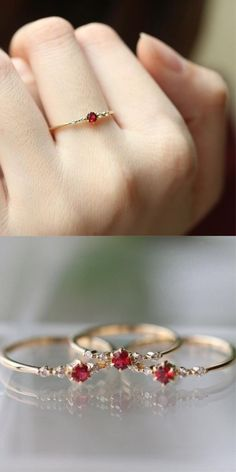 Natural Diamond Engagement Ring Set Two Tone Gold Diamond Rings Floral Engagement Ring with Matching Band - Fine Jewelry Ideas Crystal Engagement Rings, Floral Engagement Ring, Engagement Ring Settings, Vintage Engagement Rings, Vintage Rings, Wedding Engagement, Engagement Jewelry, Marquise Cut Engagement Rings, Vintage Jewellery