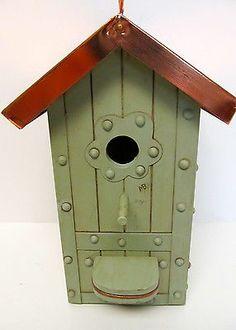 Copper Roof Birdhouse-Marjolein Bastin by Hallmark-Light Green & Copper-GUC