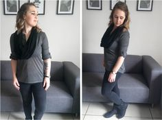 Grey & Black Fall Outfit #style #fashion #outfit #ootd #fashionblog #fblogger #fblog #fashionblogger #outfitidea