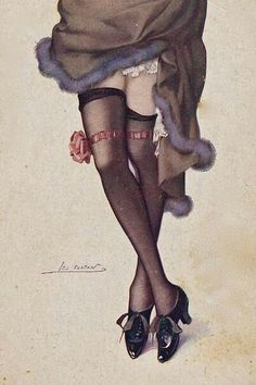 Vintage French postcard by Leo Fontan, 1920 Leo, Estilo Shabby Chic, Silk Stockings, Scantily Clad, Moda Vintage, Vintage Postcards, French Postcards, Vintage Ephemera, Pin Up Art