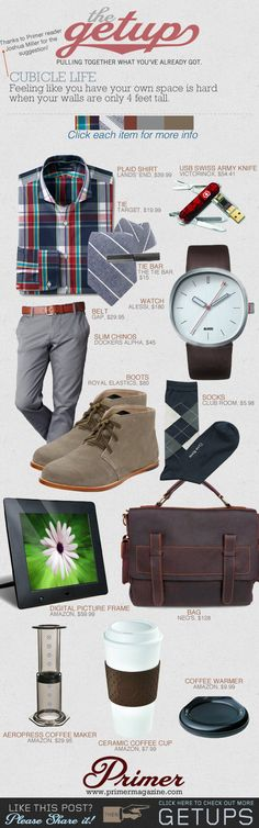 The Getup: Cubicle Life | Primer #casual #menstyle #menswear