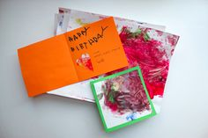 Turn children's artwork into greeting cards.