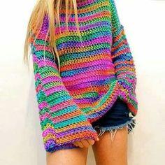 62 Trendy Ideas For Crochet Poncho Boho Ideas Crochet Bolero, Crochet Jumper, Crochet Jacket, Crochet Cardigan, Crochet Yarn, Crochet Top, Crochet Clothes, Knitwear, Crochet Patterns