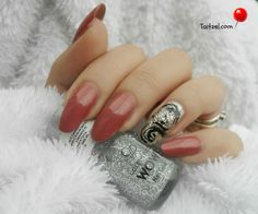 Manichiura de toamna cu sclipici autumn nails Gemstone Rings, Silver Rings, Nail Art, Gemstones, Nails, Jewelry, Finger Nails, Jewlery, Gems