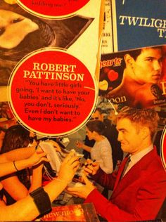 "On this week's episode of ""No one hates anything as much as Robert Pattinson hates his life""."
