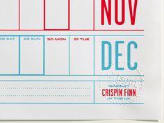 2013 Year Planner by Crispin Finn