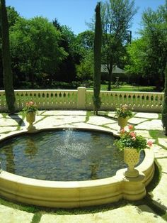 Fountains traditional landscape