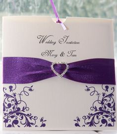 Purple And Silver Wedding Invitations Amazing Design 11 On ...