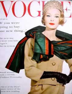 Sara Thom, cover by Irving Penn for Vogue Jan. 15, 1960