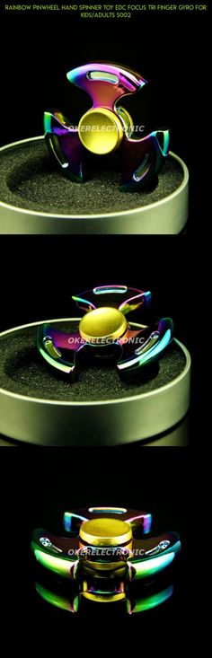 Rainbow Pinwheel Hand Spinner Toy EDC Focus Tri Finger Gyro For Kids/Adults S002 #shopping #gadgets #spinner #technology #drone #kit #tech #products #pinwheel #camera #racing #parts #fpv #plans #rainbow