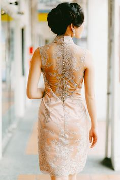 Illusion back cheongsam | Blast from the Past: A Vintage Singapore Themed Styled Shoot