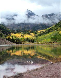 Colorado Golden Aspen Autumn Mountain Photo Art Print by JulieMagersSoulen