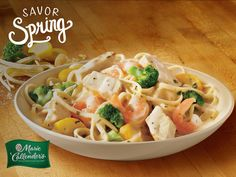 Try our Creamy Chicken and Shrimp dinner – tossed in a Parmesan Alfredo sauce.