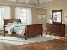 Bedroom furniture is this color... This bedding and color scheme kind of work together