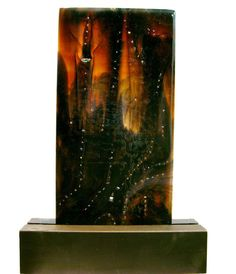 Abstract Art Fused Glass Panel Outer Space For Your Home or Office www.coastalartglass.com