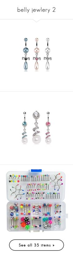 """""""belly jewlery 2"""" by thesassystewart on Polyvore featuring jewelry, belly button rings jewelry, dangling jewelry, gem jewelry, bow jewelry, gemstone jewelry, fake jewelry, imitation jewellery, sparkle jewelry and imitation pearl jewelry"""