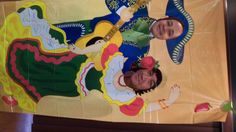 We couldn't wait to pose for the Cinco de Mayo pictures!(make photo booth )