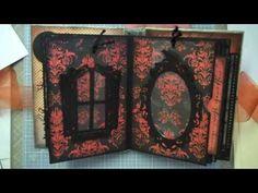 ▶ Halloween Mini Album - YouTube using cricut October 31st