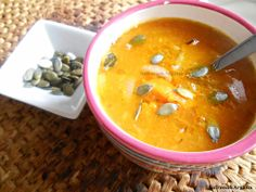 Grilled pumpkin & onion soep with arganoil
